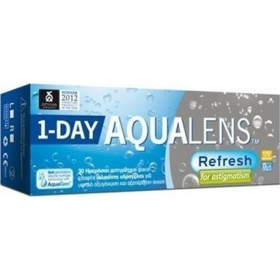 AQUALENS REFRESH ONE DAY FOR ASTIGMATISM UV400 (30-PACK)
