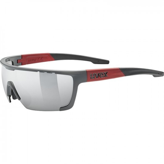 UVEX SPORTSTYLE 707 GREY RED MAT /PC MIR SILVER Cat.3 (S5320775316)