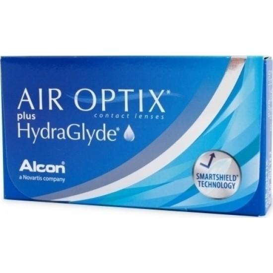AIR OPTIX PLUS HYDRAGLYDE ALCON ΜΗΝΙΑΙΟΙ ΦΑΚΟΙ ΕΠΑΦΗΣ (6 ΦΑΚΟΙ)